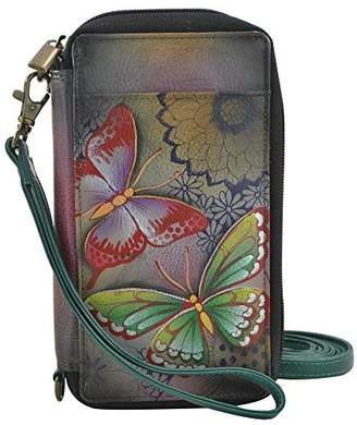 Anuschka Anna by Hand Painted Leather Smartphone Case & Wallet | Butterfly Paradise