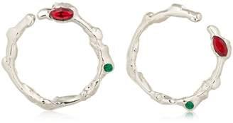 Marni Organic Shaped Hoop Earrings
