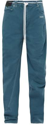 Off-White Twisted Seam Straight Leg Jeans - Mens - Blue