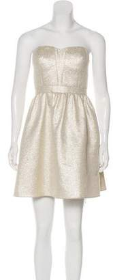 Aidan Mattox Strapless Metallic Dress