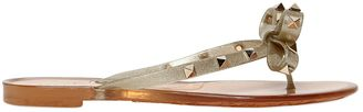 Rockstud Glittered Flip Flops W/ Bow $325 thestylecure.com