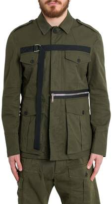 DSQUARED2 Field Jacket With D-ring Strap