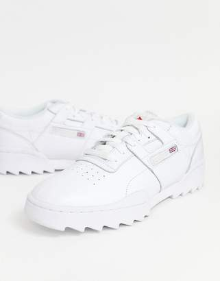 9d54aa938fa Reebok Workout Ripple Sneakers in white DV5326