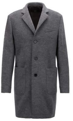 BOSS Hugo Slim-fit coat in wool notch lapels 42R Grey
