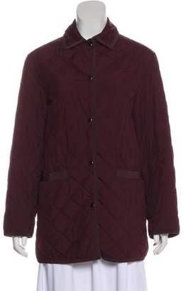 Salvatore Ferragamo Collared Quilted Jacket