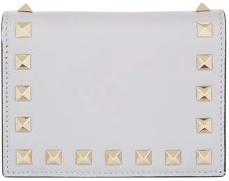 Valentino Leather Rockstud Flap Wallet