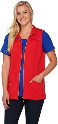 Factory Quacker Zip Front Vest and Short Sleeve T-shirt Set