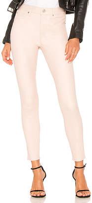 Hudson Barbara High Rise Leather Ankle Super Skinny