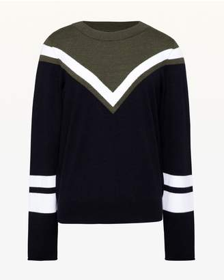 Juicy Couture Colorblock Chevron Pullover
