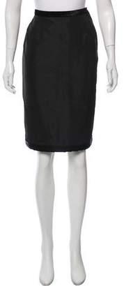 Lanvin Silk-Blend Knee-Length Skirt