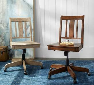 At Pottery Barn · Pottery Barn Holt Swivel Desk Chair