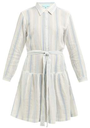 Melissa Odabash Amelia Striped Cotton Mini Dress - Womens - Blue Stripe