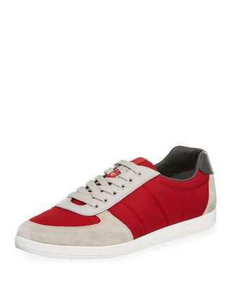 Prada Men's Nylon & Suede Low-Top Sneakers