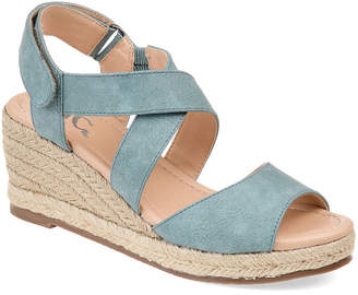 Journee Collection Womens Spencer Pumps Open Toe Wedge Heel
