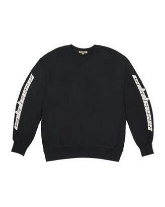 Yeezy Boxy-Fit Crewneck Sweatshirt, Black $250 thestylecure.com