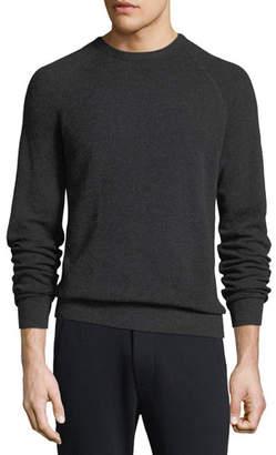 Vince Men's Birdseye Wool-Cashmere Sweater