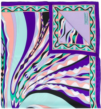 Emilio Pucci Burle Print Silk-Twill Square Scarf