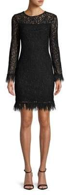 Calvin Klein Long Sleeve Lace Dress