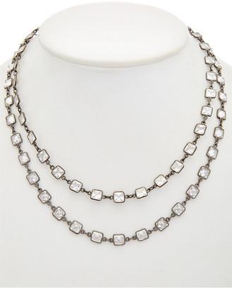 Rachel Reinhardt Plated Silver Cz Layered Necklace