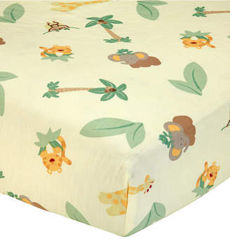 NoJo Jungle Babies 100% Cotton Animal-Print Fitted Crib Sheet Bedding