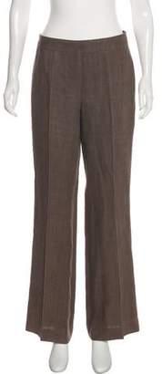 Akris Punto Linen Mid-Rise Wide-Leg Pants