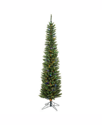 Vickerman 5.5 ft Durham Pole Artificial Christmas Tree With 150 Multi-Colored Led Lights