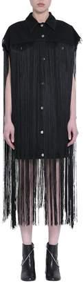 MM6 MAISON MARGIELA Black Cotton Fringed Vest