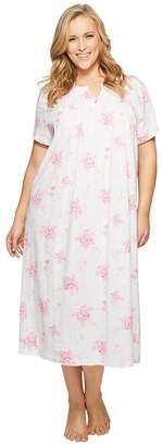 Carole Hochman Plus Size Short Sleeve Long Gown Women's Pajama