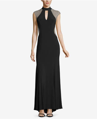 Xscape Evenings Embellished Choker Gown