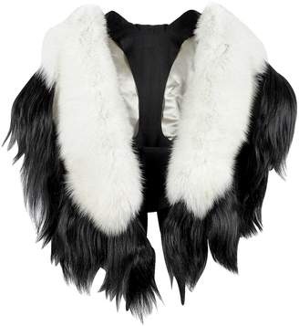 Fearfur Bad Black Kite White and Black Fur Stole