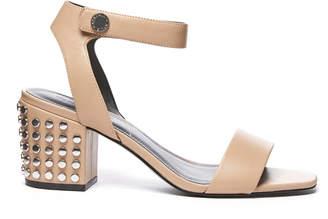 KENDALL + KYLIE Sophie Studded Leather Block Heel Sandal