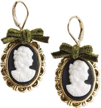 Poporcelain Goddess Oval Porcelain Cameo Earrings