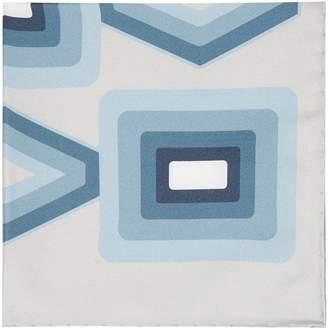 Reiss Deco - Silk Pocket Square in Blue