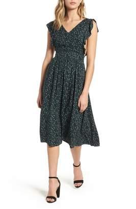 Hinge Pinafore Midi Dress