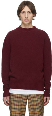 Schnaydermans Burgundy Wool Crewneck Sweater