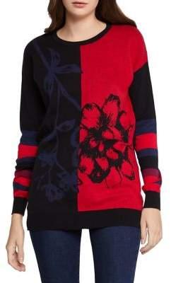 BCBGeneration Colorblocked Cotton Sweater