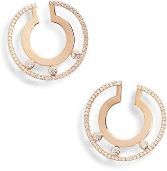 Möve MESSIKA Romane 18K Gold & Diamond Hoop Earrings