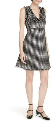Kate Spade houndstooth tweed dress