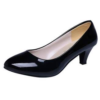 5a564fc271 Gillberry Shoes Gillberry Women's Cute comfy Closed Round Toe Low Kitten Heel  Slip On Pump