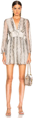 Zimmermann Corsage Fluted Playsuit in Python | FWRD