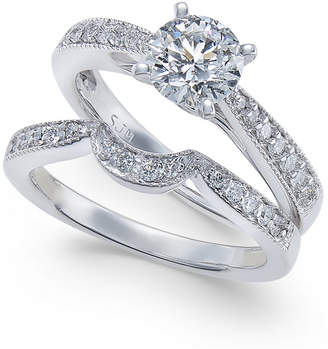 Macy's Diamond Bridal Set (1 ct. t.w.) in 14k White Gold