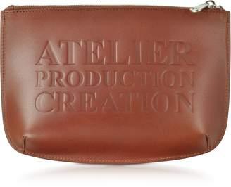 A.P.C. Atelier Marron Leather Pochette