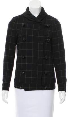 Opening Ceremony Wool-Blend Patterned Coat