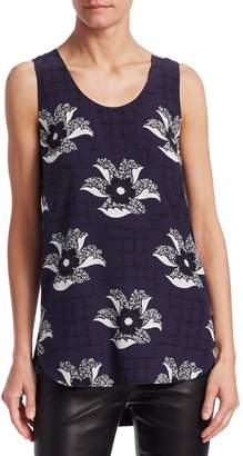 Victoria Beckham Women's Floral and Grid Shell Top