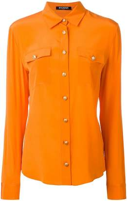 Balmain chest pocket button-up shirt