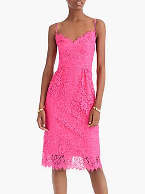 J.Crew Liam Unicorn Lace Dress, Soft Fuchsia