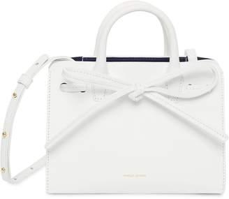 Mansur Gavriel Calf Mini Mini Sun Bag - White/Blu