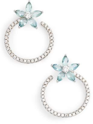 Nina Front to Back Floral Hoop Earrings