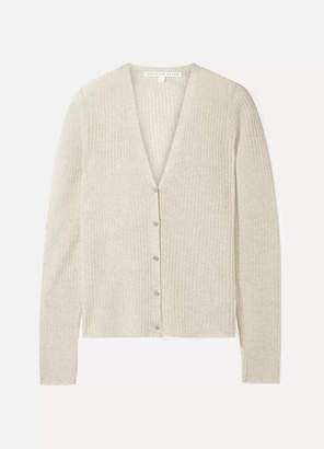 703f3ad994dfc Veronica Beard Keke Ribbed-knit Cardigan - Beige