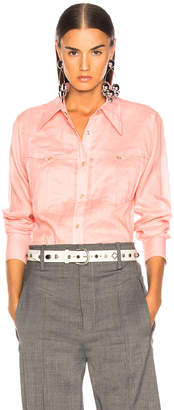 Isabel Marant Naria Shirt in Candy Pink | FWRD